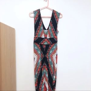 Maeve Anthropologie Long Maxi V Dress Patterned